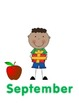 Back to school birthday wall display using stick kids