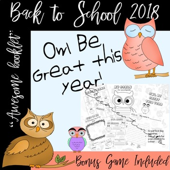 Owl Be Great this year - Memory Game Included - Back to school #BTS2017 booklet