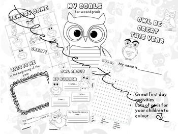 Owl Be Great this year - Memory Game Included - Back to school #BTS2018 booklet