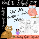 Owl Be Great this year - Memory Game Included - Back to school #BTS2019 booklet