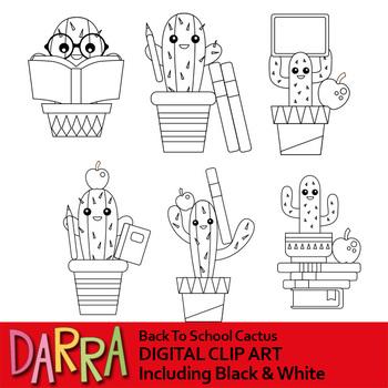 Back to school cactus clipart, cacti clip art