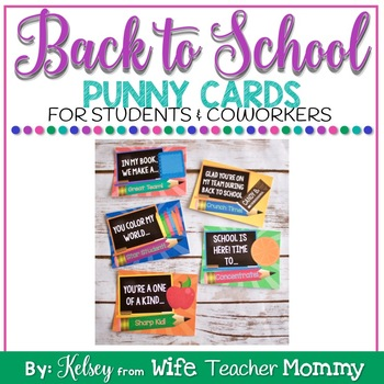 Back to school Gift Tags for Students and Coworkers Punny Cards