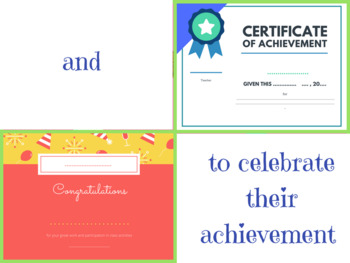 Back to school certificates
