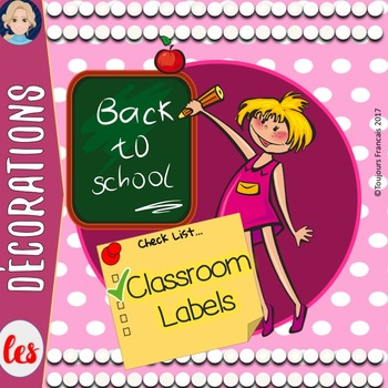 Back to school classroom labels in FRENCH