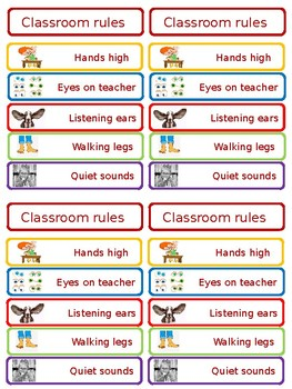 Back to school classroom rules poster for walls, desk and student handbooks