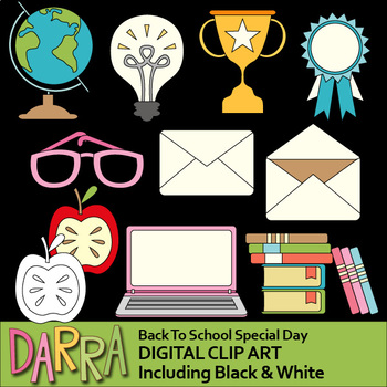 Back to school clip art by DARRA