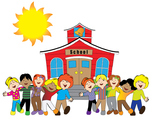 Back to school clip art or bulletin board images