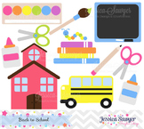 Back to school clip art, teacher clipart, commercial use, graphic, school design