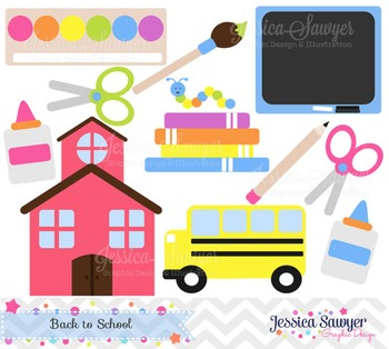 Back to school clip art, teacher clipart, commercial use, graphic, school design