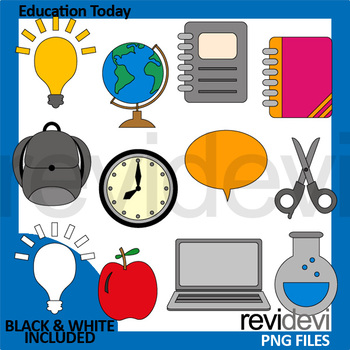 Back to school clipart - Education today