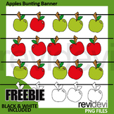 Back to school clipart freebie - apples bunting banners