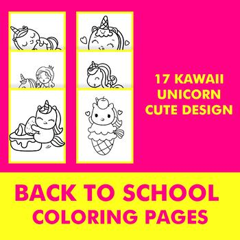 Back To School Coloring Pages Kawaii Unicorn Coloring Pages Cute Unicorn Art