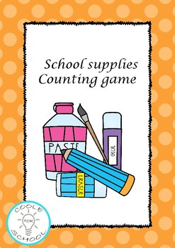 Back to school flashcards counting game colour and b+w