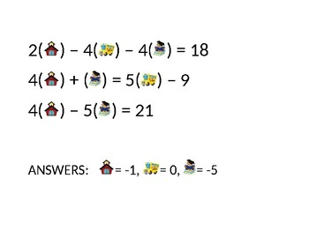 Back to school equations