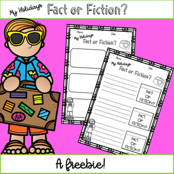 Back to School - Fact or Fiction Writing Activity