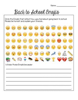 Back to school feelings (Emojis)