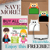 Back to school free clip art and TpT BTS Sale
