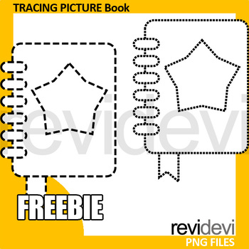 Back to school free clip art - tracing picture - B is for book