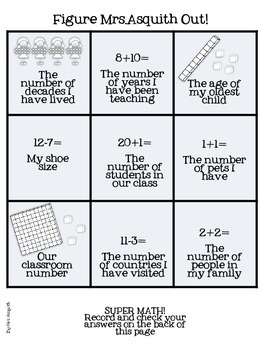 Back to school, getting to know you in numbers!