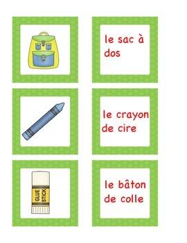 Back to school : le matériel scolaire : vocabulaire