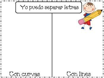 Back to school literacy pack in Spanish