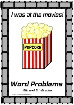 Beginning of the year math activities: I was at the movies!