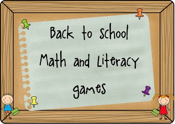 Back to school math and literacy pack