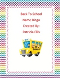 Back to school name bingo