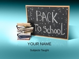 Back to school night presentation (editable)