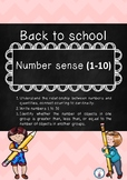 Back to school-number sense 1-10
