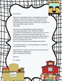 Back to school parent letter EDITABLE