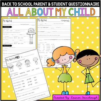 Back to school parent questionnaire