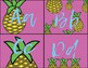 Back to school pineapple assorted pattern alphabet