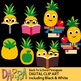 Back to school pineapple clip art