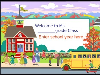 Back to school powerpoint Peanuts gang