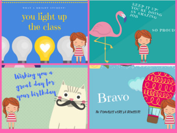 Back to school reward postcards