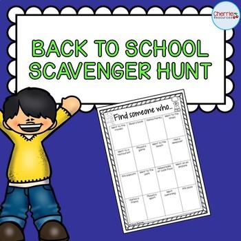 Back to School Scavenger Hunt FREEBIE