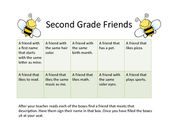 Back to school, second grade, bumblebees
