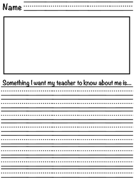 Back to school sentence stems
