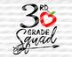 Back to school svg files 3rd grade svg Teacher shirt svg design