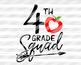 Back to school svg files 4th grade svg Teacher tribe svg