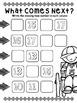 Back to school teen numbers worksheet (math station)