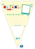 Back to school templates, Me and My Family, Bunting and stickers