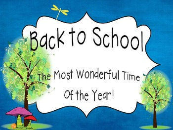 Back to School Night: An Editable PPT for parents