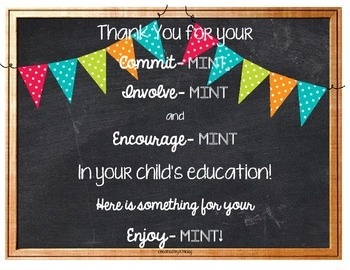 Back to school thank you poster
