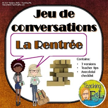 French Conversation Starters Worksheets & Teaching Resources