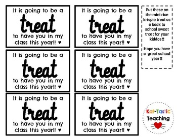 Back to school treat tag
