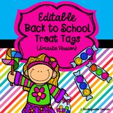 Editable Back to School Treat Tags {Smartie Version}