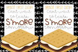 Back to school treat tags for the first day! Learn s'more