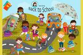 Back to school vector clipart